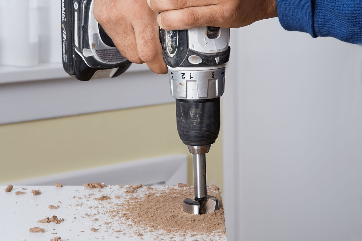 Drilling Cup Holes For Euro-Style Cabinet Hinges