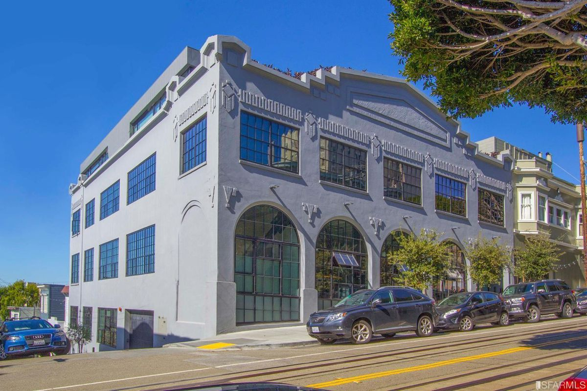 Exterior of Russian Hill's Garage building.