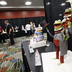 Cakes are judged during a competition at RootsTech in Salt Lake City on Saturday, Feb. 11, 2017.