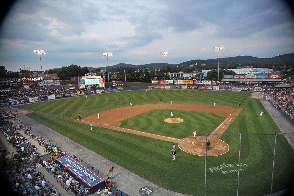 July 11, 2012; Reading, PA USA; General view of FirstEnergy Stadium during the 2012 Eastern League AA All-Star game. Mandatory Credit: Eric Hartline-US PRESSWIRE