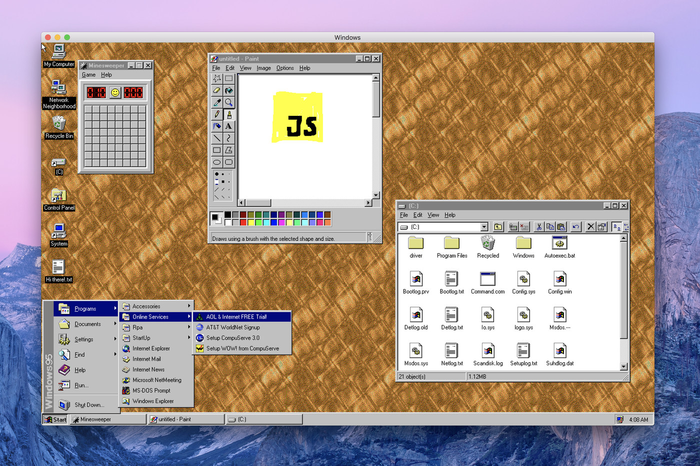 Windows 95 Is Now An App You Can Download And Install On Macos Windows And Linux The Verge