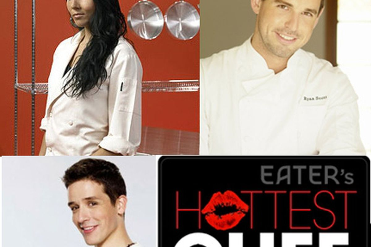 Clockwise from top left: Marisa Churchill, Ryan Scott and Yigit Pura: all hot, but not competing this year because they're not working with restaurants at the moment.