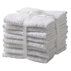 """The white washcloth (<a href=""""http://turkishtowelcompany.com/organic-washcloths"""">$60 for six</a> at Turkish Towel Company) might be the most underrated skincare tool of all time. I spent $120 on a Clarisonic Mia and used it religiously for a few months. B"""