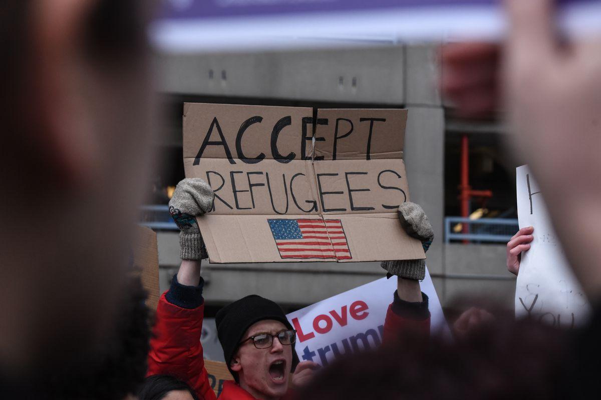 Protestors Rally At JFK Airport Against Muslim Immigration Ban