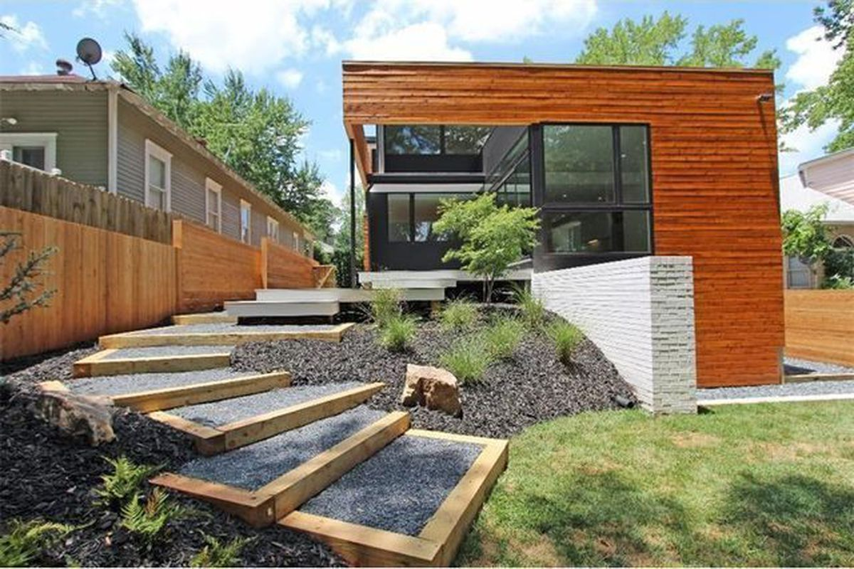 [The 3,600-square-foot house from the backyard ... ]