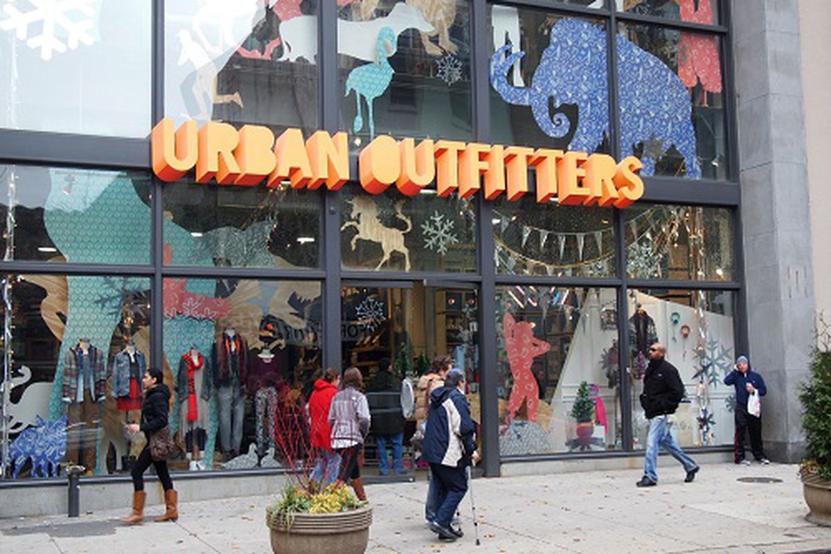 The Urban Outfitters store on Walnut