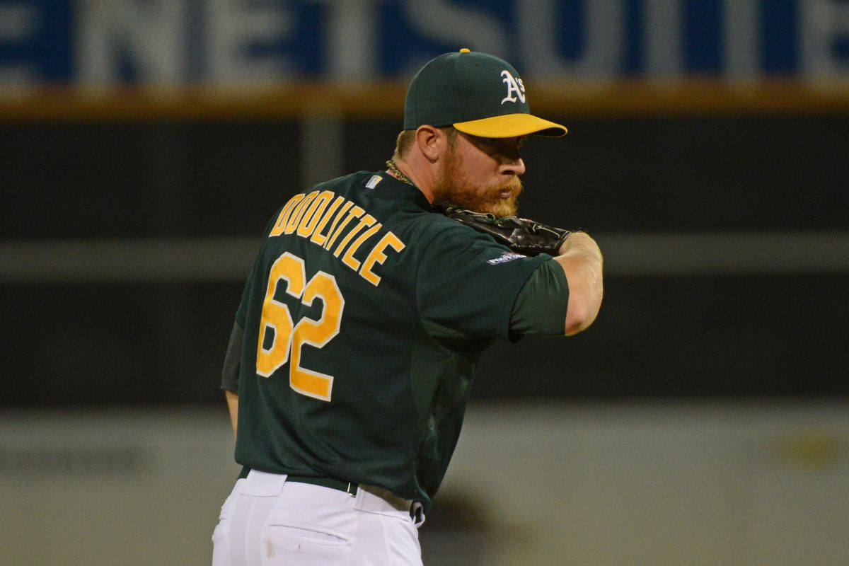 Not only is Doolittle good at hiding the ball during his delivery, he's also good at hiding his beard beforehand.