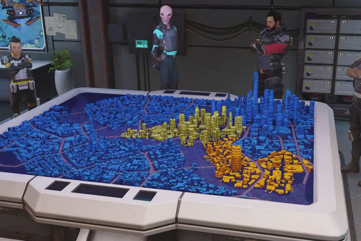 City Map, District Unrest, and City Anarchy in XCOM: Chimera Squad
