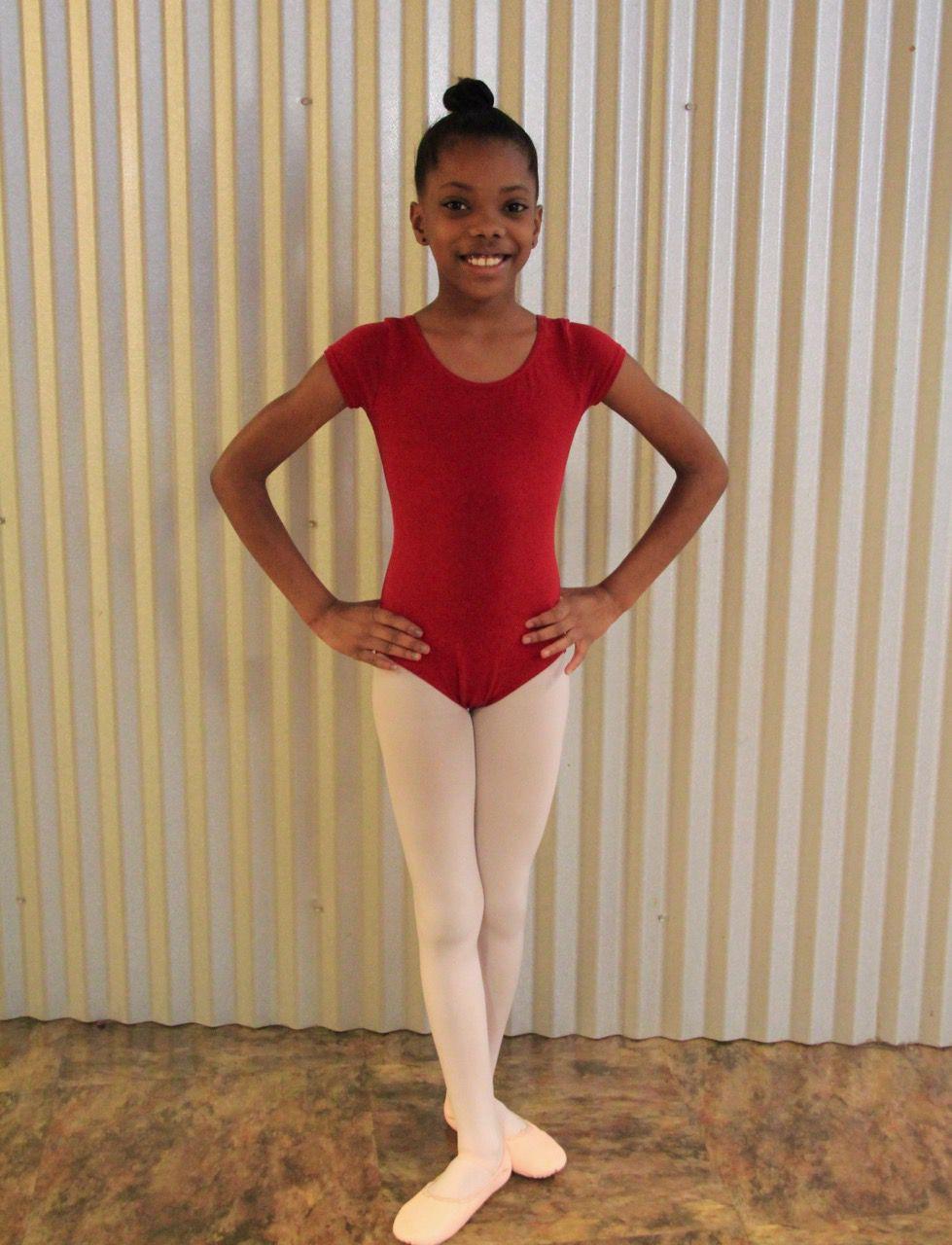Ten-year-old Briana Davis is among 40 students receiving dance instruction at Dunbar Elementary School.