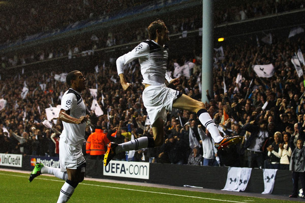 Spurs will look to set White Hart Lane afire with three points that could clinch advancement to the knockout stage of the Champions League (Photo by Clive Rose/Getty Images)