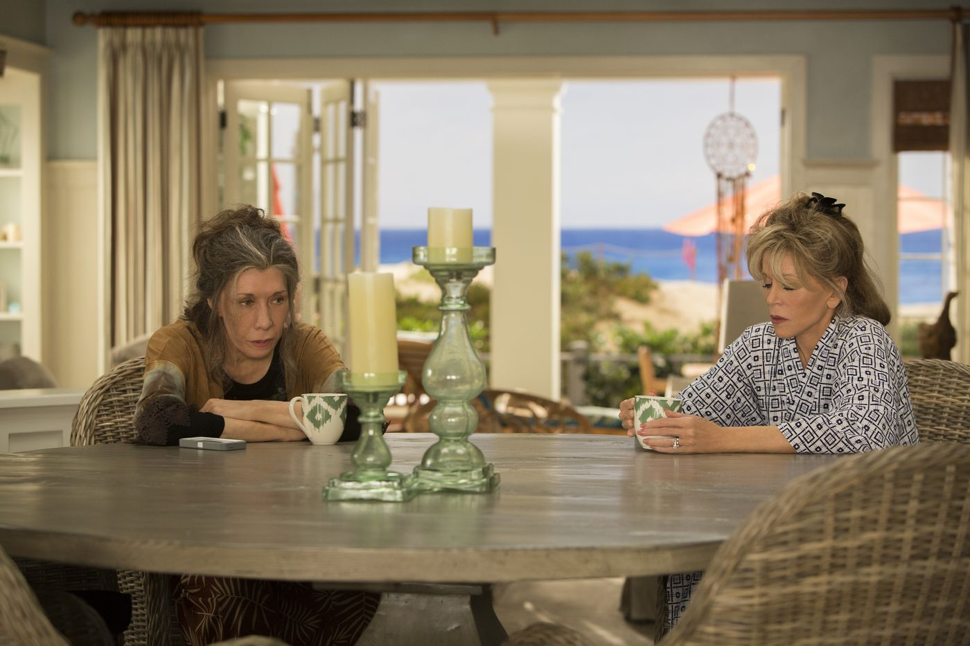 Netflix's Grace and Frankie is great TV to nap to  That's