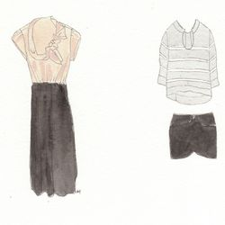 Clockwise from left: SIR Birthday Girl dress, $495; Ulla Johnson Melanie pullover, $275; and Tocca Petal skirt, $275.