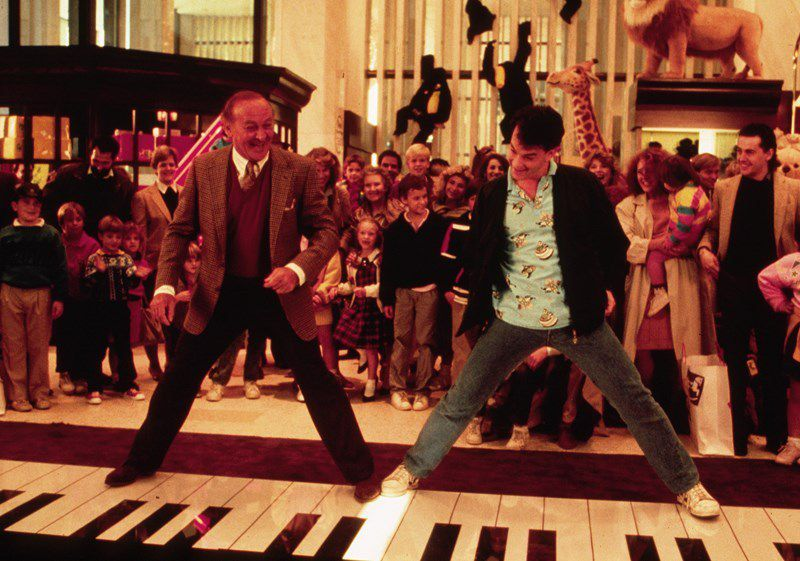 """Robert Loggia (left) and Tom Hanks in a scene from """"Big."""" 