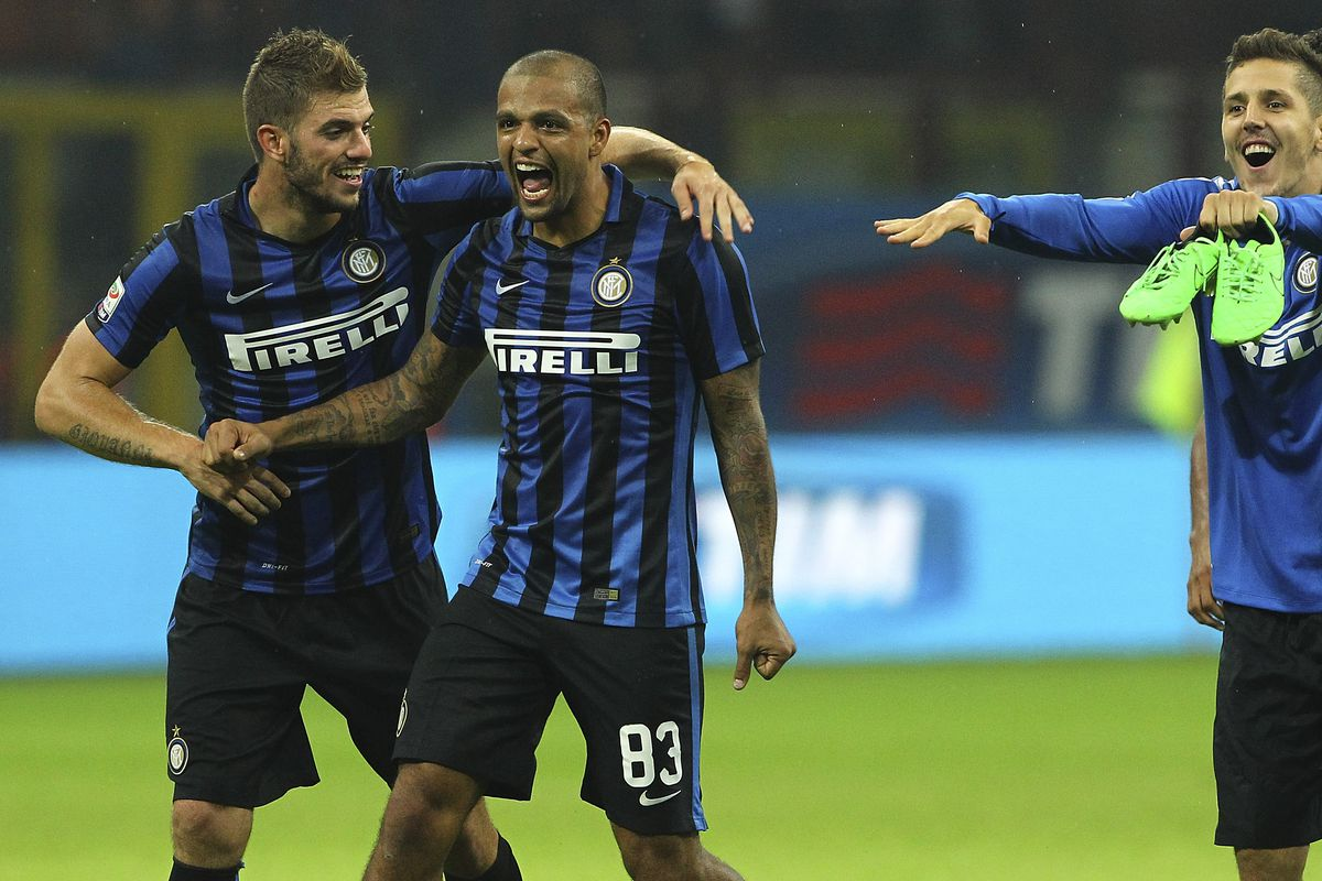 Inter had plenty of reason to celebrate after defeating city rival Milan and jumping to the top of the table.