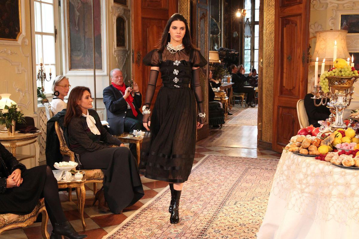 Kendell Jenner walks in the Chanel Métiers d'Arts show in Salzburg in December. Photo: Getty Images