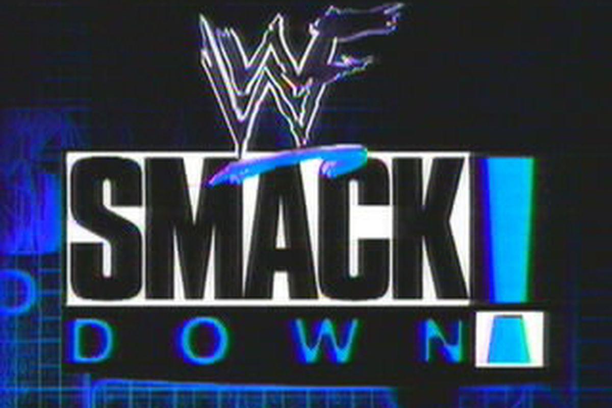 The original WWF Smackdown logo.
