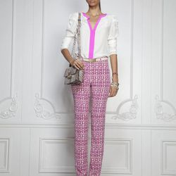 In this photo provided by  Rachel Roy the Rachel Roy Spring 2013 collection is modeled during Fashion Week in New York, Tuesday, Sept. 11, 2012.
