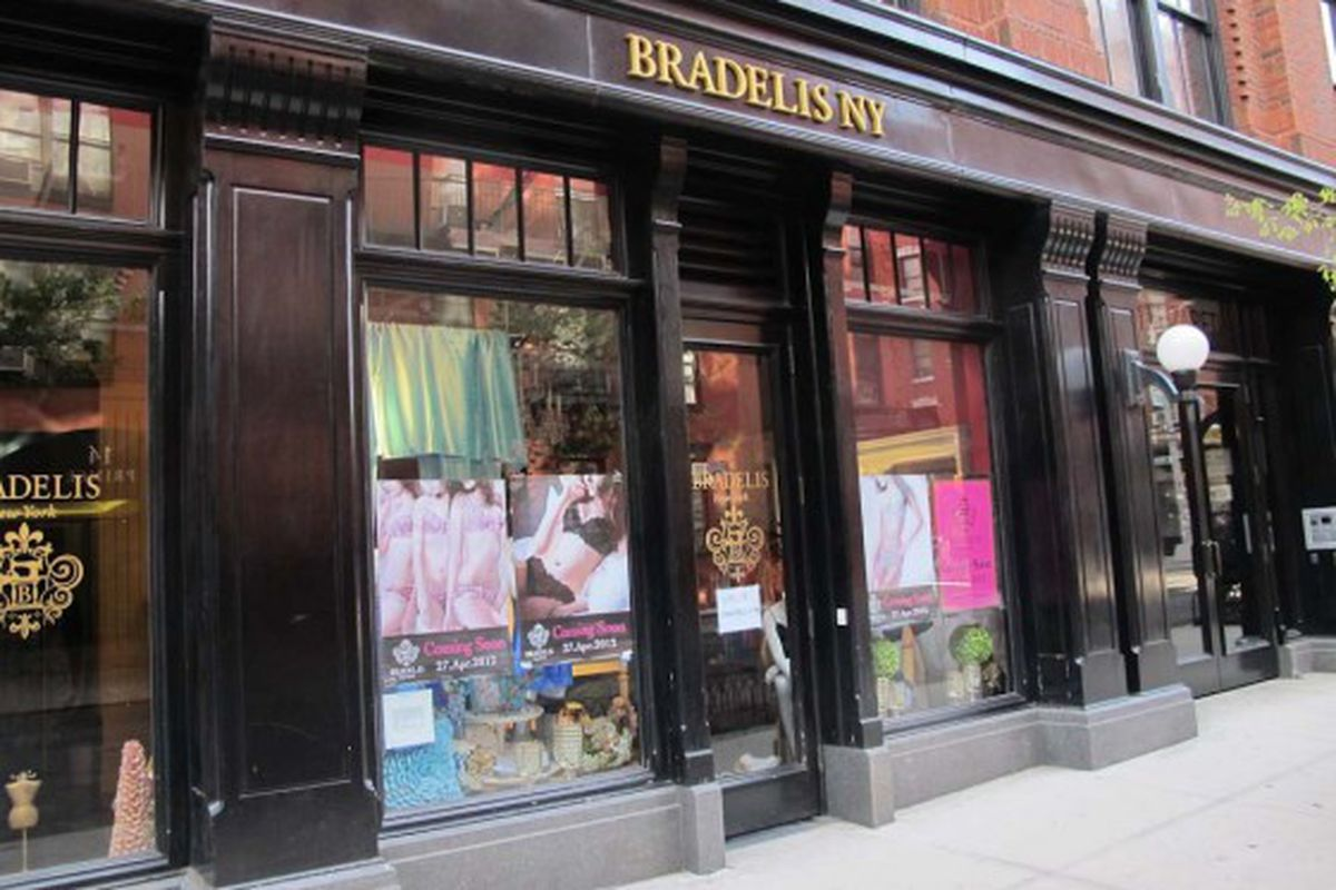 """The Elizabeth Street store via <a href=""""http://www.boweryboogie.com/2012/04/bradelis-ny-opens-lingerie-shop-at-211-elizabeth/"""">Bowery Boogie</a>"""