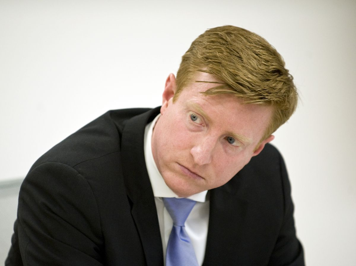 <strong><small>Andrew Hamilton is an aldermanic candidate for the 1st Ward in the City of Chicago.   Richard A. Chapman/Sun-Times</small></strong>