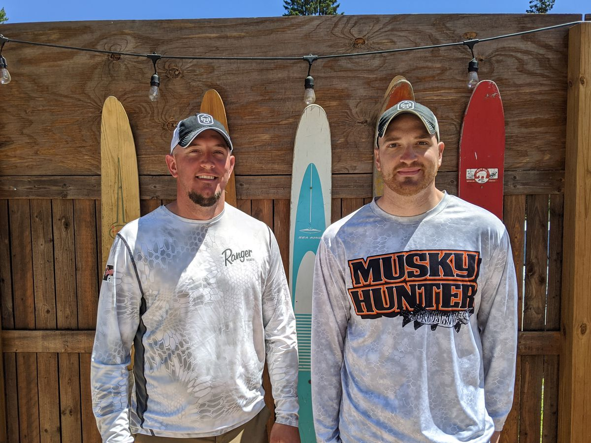 Mitch Ellis (left) and Pete Blicharz won a much different Spring Classic, the annual muskie tournament on the Eagle River chain in northern Wisconsin put on by the Headwaters chapter of Muskies, Inc. Credit: Dale Bowman