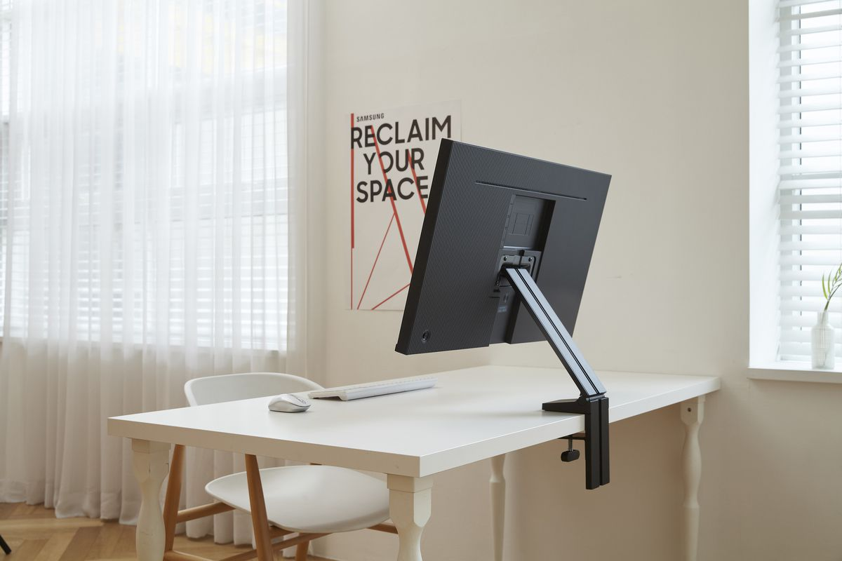 Samsung S New Space Saving Monitors Can Fold Flat Against