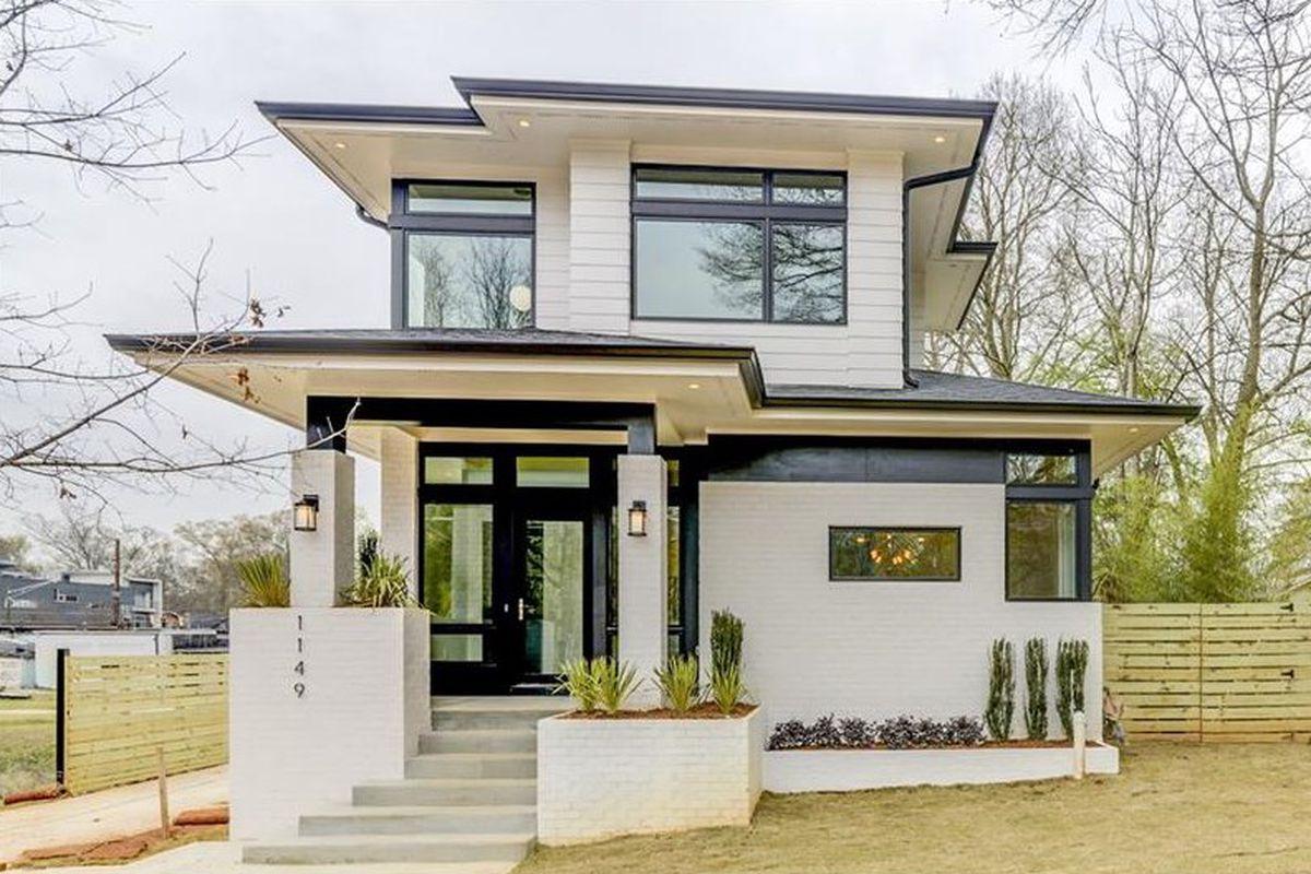 A prairie-style new home in Atlanta's Ormewood Park neighborhood.