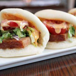 "BLT bao buns from Salt & Fat by <a href=""http://www.flickr.com/photos/bradleyhawks/8634775483/in/pool-eater/"">Amuse * Bouche</a>"