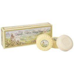 """<a href="""":http://www.caswellmassey.com/goats-milk-honey-soap.aspx"""" rel=""""nofollow"""">Caswell-Massey Goat;s Milk and Honey Soap</a>: $20"""