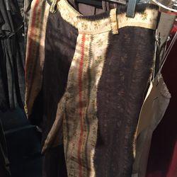 Pattern shorts, $150