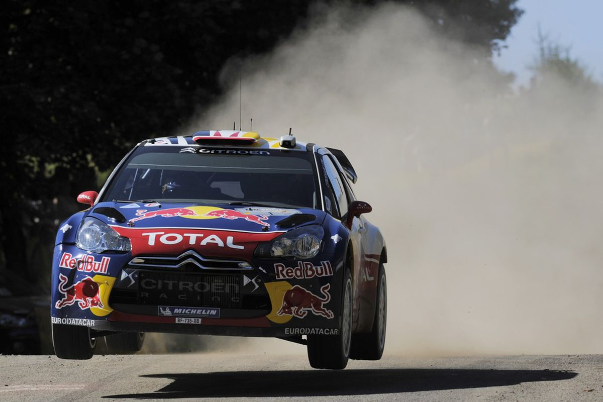 TRIER, GERMANY - AUGUST 20:  Sebastien Loeb of France and Daniel Elena of Monaco compete in their Citroen Total WRT Citroen DS3 WRC during Day2 of the WRC Rally of Germany on August 20, 2011 in Trier, Germany.  (Photo by Massimo Bettiol/Getty Images)