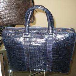 Santiago Gonzales crocodile briefcase, $4,100