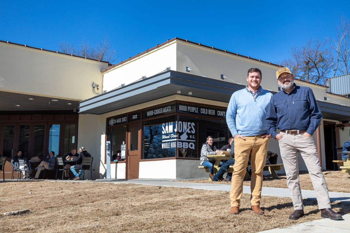 Michael Letchworth and Sam Jones out of Sam Jones BBQ in Raleigh