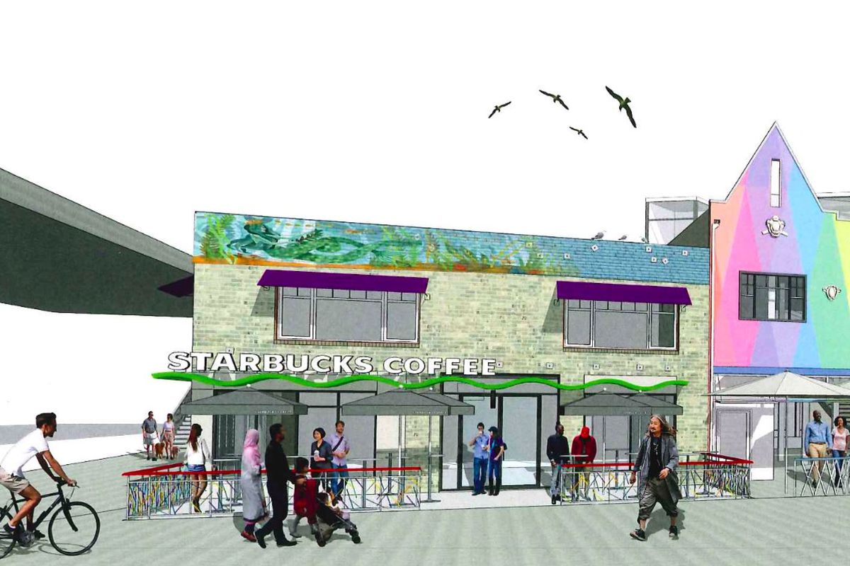 Rendering of the proposed Starbucks