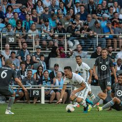 August 7, 2019 - Saint Paul, Minnesota, United States - The US Open Cup Semifinal match between Minnesota United FC and The Portland Timbers at Allianz Field. (Tim C McLaughlin)