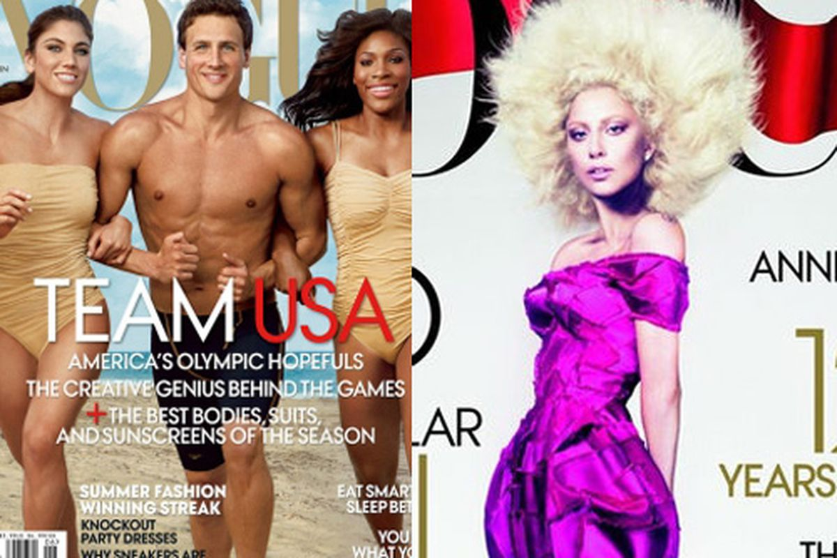 Ryan Lochte's Vogue cover, Lady Gaga's Vogue Cover