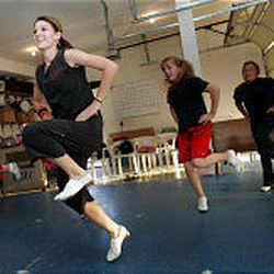 Jenny Verhoef teaches her students clogging with a twist ////— she incorporates stomp techniques, Irish step dancing and tap dancing.