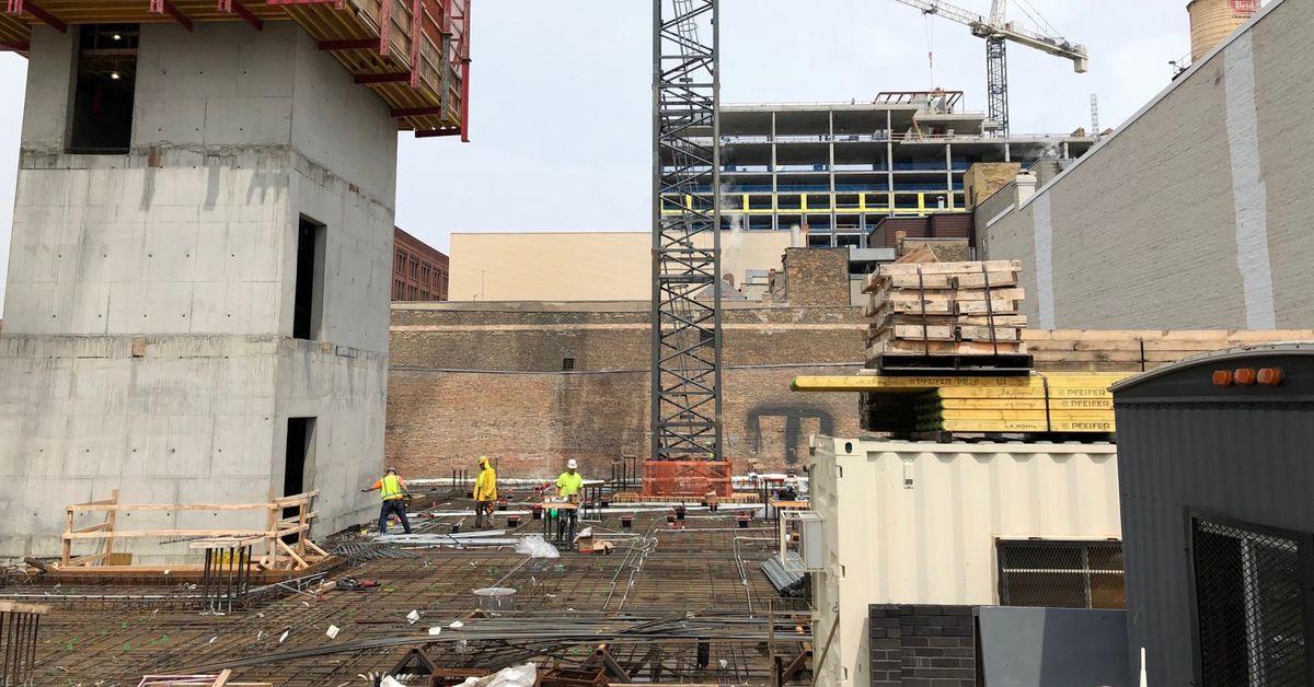 construction resumes on chicago s nobu hotel curbed chicago. Black Bedroom Furniture Sets. Home Design Ideas