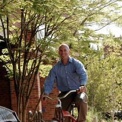 """Matt Kelly rides the Felt cruiser bike he bought for about $500 """""""" without telling his wife. Kelly is a Personal Finance Coach and author. He has since sold the bike."""