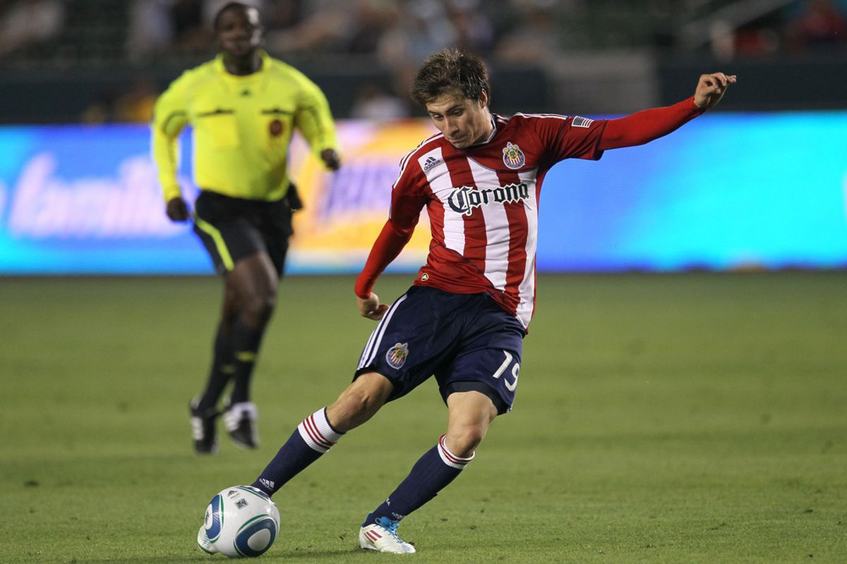 CARSON, CA - JULY 23:   Villafana: Representing Chivas USA for the USMNT U23s (Photo by Stephen Dunn/Getty Images)