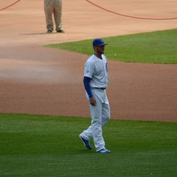 1:00 p.m. Kris Bryant taking in the view before the game -