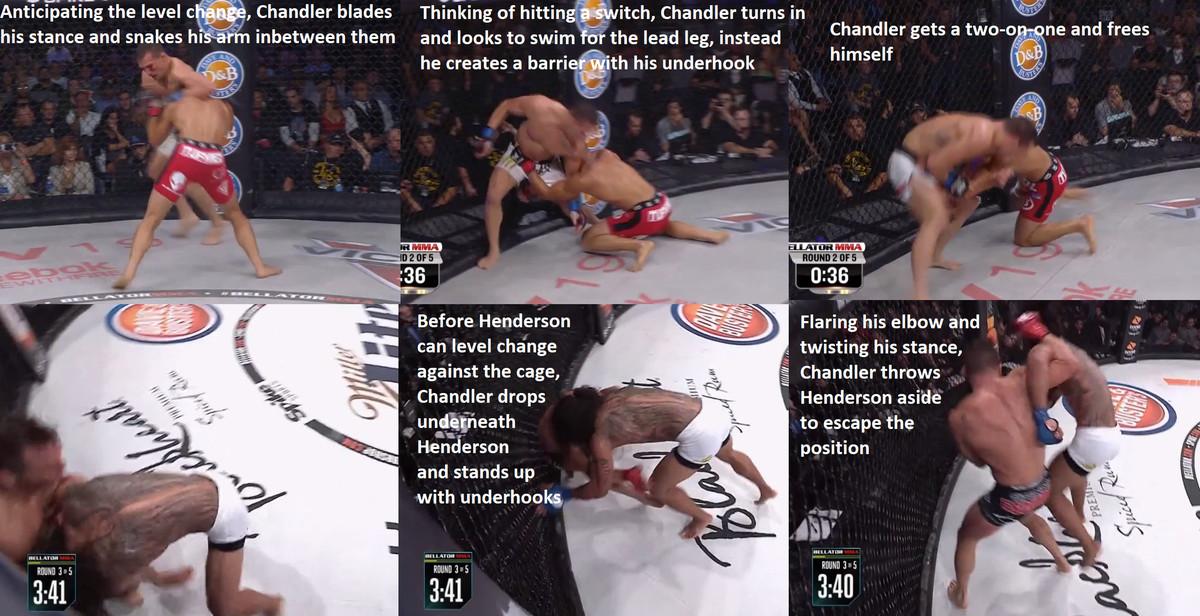 Michael Chandler digs underhooks vs. Eddie Alvarez and Benson Henderson