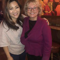 Ji with Huttenbar owner Irma Frolich.| Brian Rich/Sun-Times