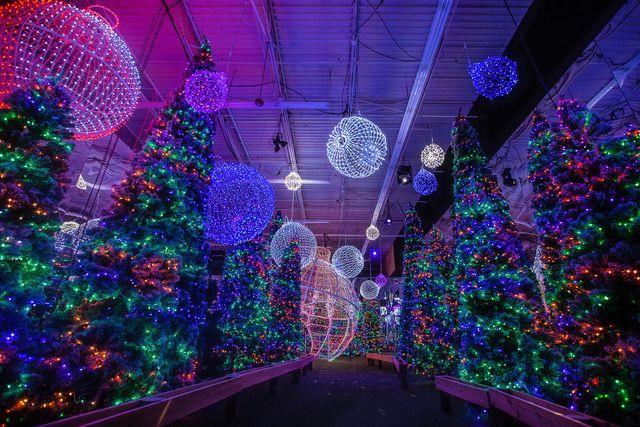 A large display of Christmas lights.