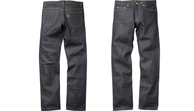 A pair of jeans made by A.P.C. in collaboration with Surpeme.