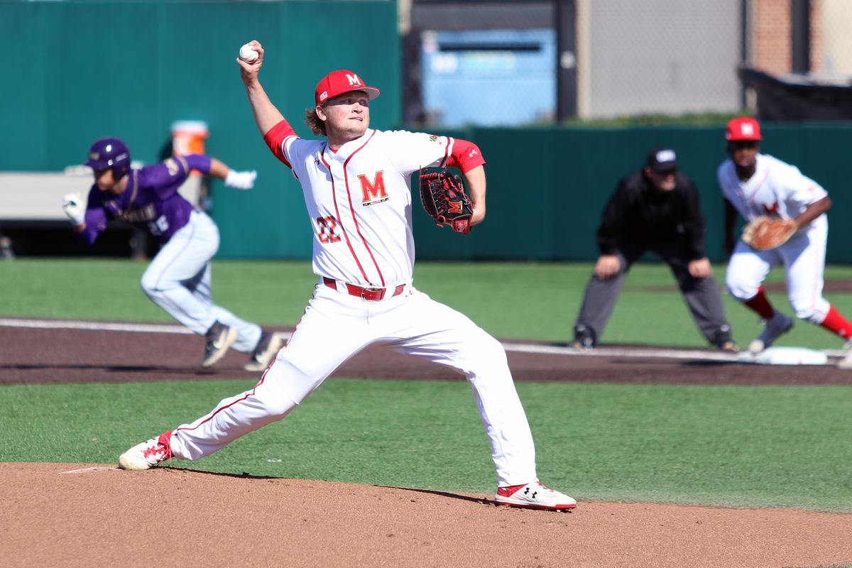 Maryland baseball Sean Heine vs. James Madison