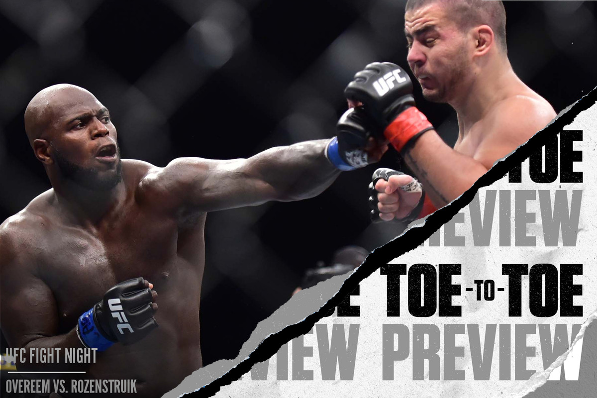 Ufc On Espn Alistair Overeem Jair Rozenstruik Toe To Toe