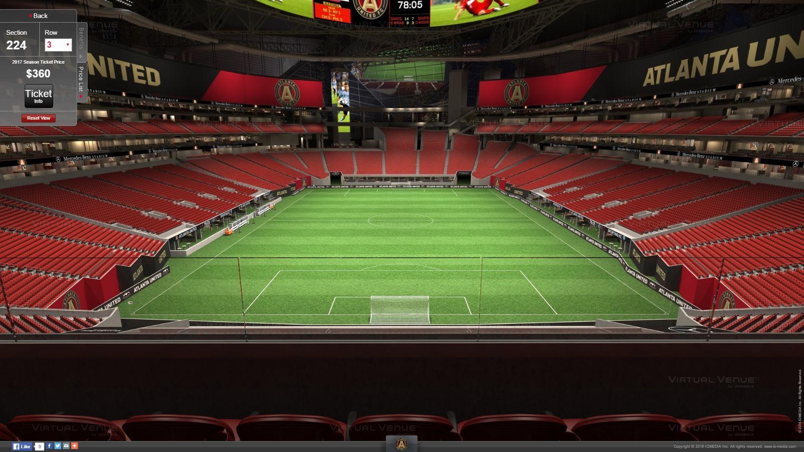 Atlanta United S Virtual Venue Seating For Mercedes Benz
