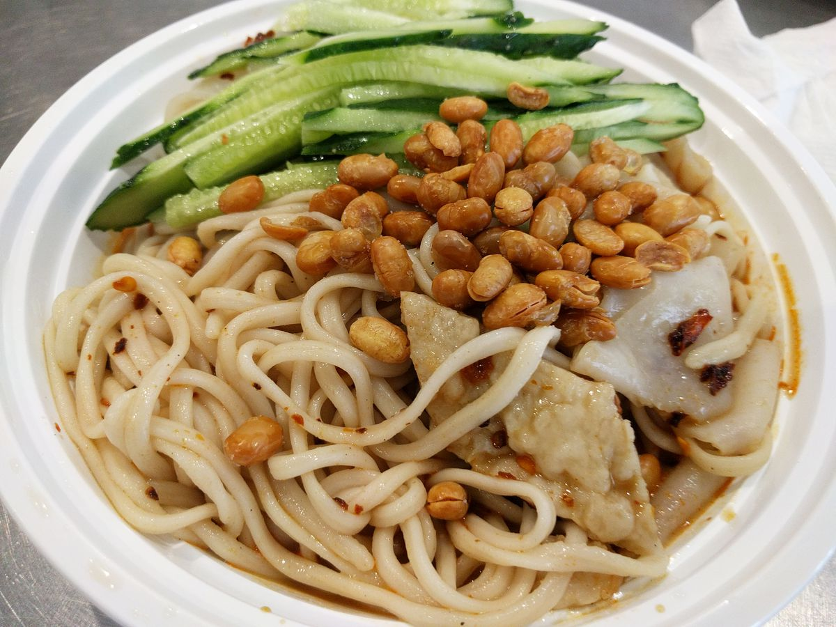 Three types of homemade noodles at Auntie Guan's Kitchen
