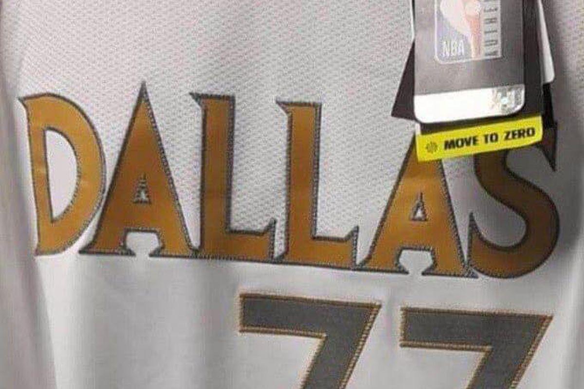 Leaked image of the Dallas Mavericks' new City Edition jersey.