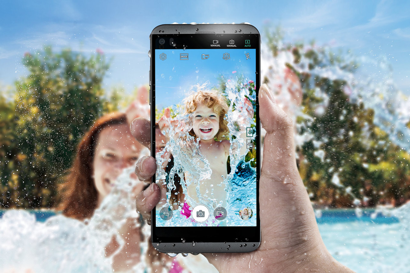 the lg q8 is a smaller version of last year s v20 with water resistance